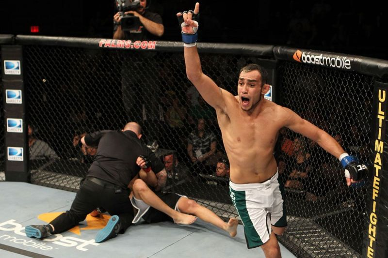 Ferguson debuted in 2011 with a knockout of Ramsey Nijem, winning TUF 13 in the process
