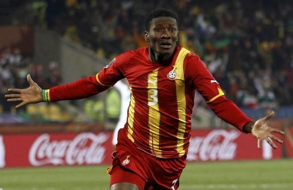 Asamoah Gyan shot to fame in the 2010 World Cup with Ghana