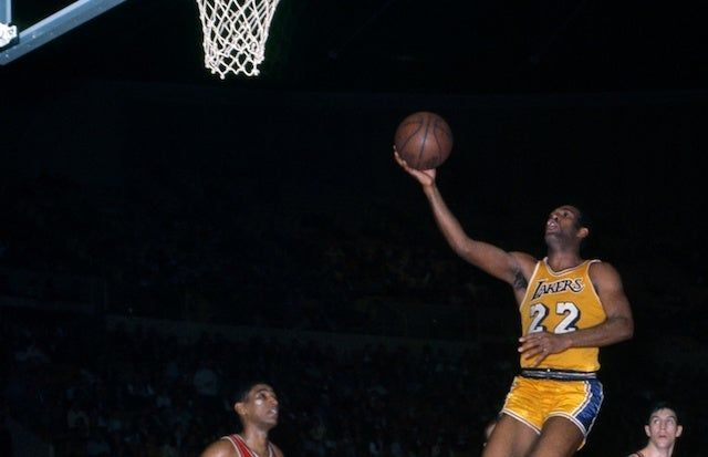 Elgin Baylor won the Rookie of the Year Award in 1959