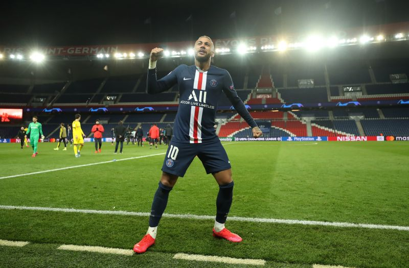 Neymar celebrates post-match as PSG recover from their 2-1 aggregate deficit to book a quarter-final spot