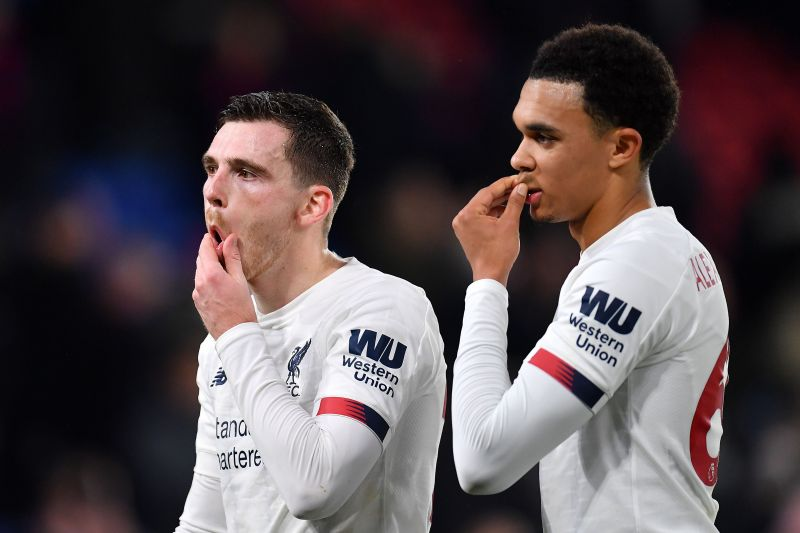 The star Liverool full-backs Andy Robertson and Trent Alexander-Arnold.