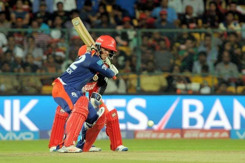Quinton de Kock registered his maiden IPL ton at the M. Chinnaswamy Stadium
