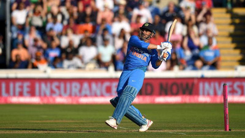 MS Dhoni during ICC 2019 World Cup in England and Wales