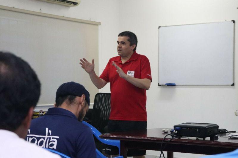 WSF Coach/Tutor Michael Khan taking a class as part of the conduct of the WSF coaching course