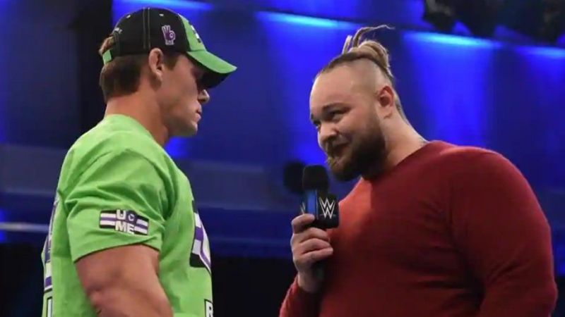John Cena and Bray Wyatt confronted each other in front of an empty audience!