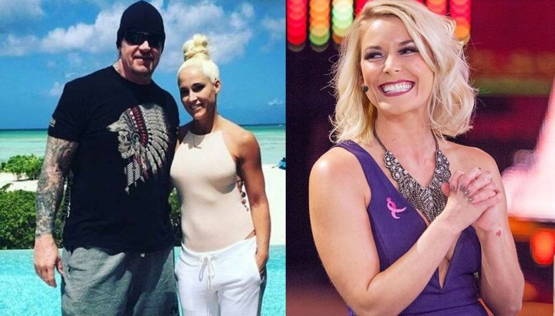 The Undertaker, Michelle McCool, and Renee Young