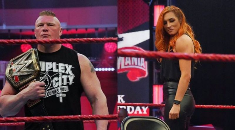 Brock Lesnar and Becky Lynch on RAW