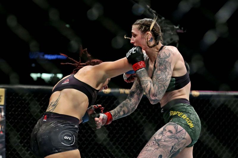 Megan Anderson scored a big knockout last night