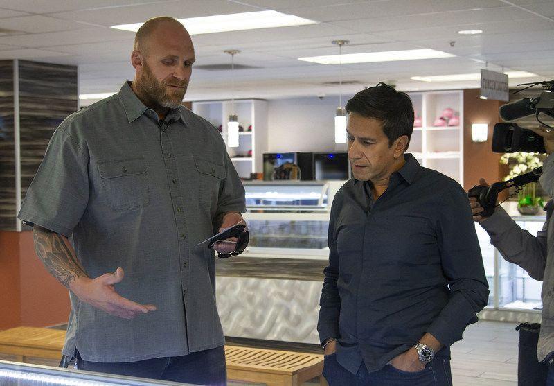 Kyle Turley with Dr. Gupta / Photo courtesy of Shango