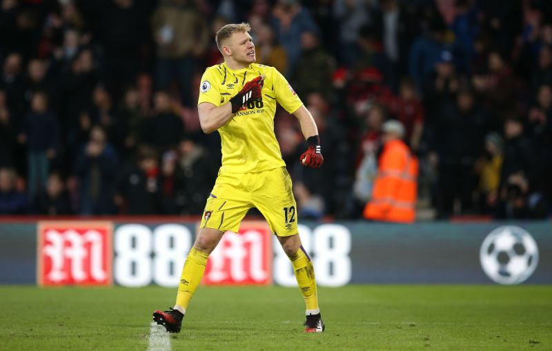 Bournemouth goalie Aaron Ramsdale.