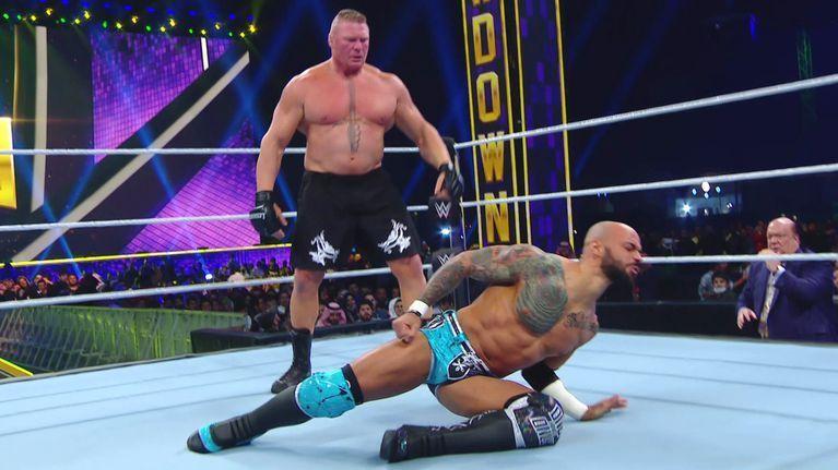 Brock Lesnar vs Ricochet from Super ShowDown
