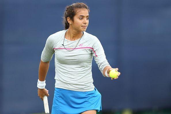 Ankita Raina won both the singles and doubles matches to seal India