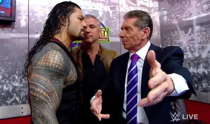 Roman Reigns and Vince McMahon