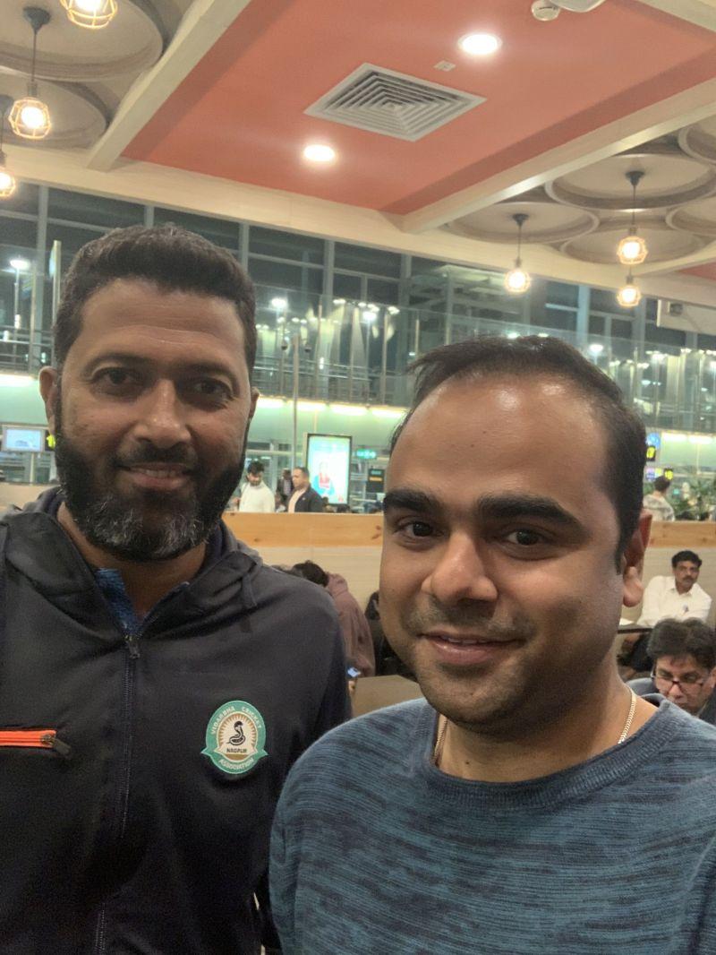 Selfie with Wasim Jaffer