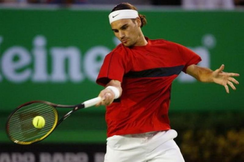Federer in his early days on the tour