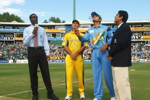 Sourav Ganguly won the toss in the 2003 World Cup final and elected to field.