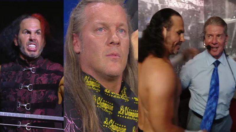 Matt Hardy, Chris Jericho, and Vince McMahon