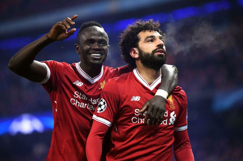 Liverpool forwards Sadio Mane and Mohamed Salah