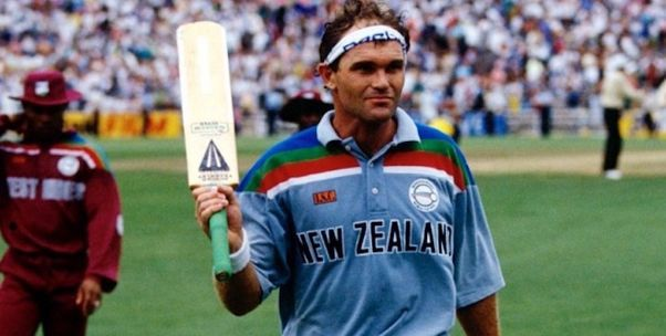 Martin Crowe in one of the matches of the World Cup