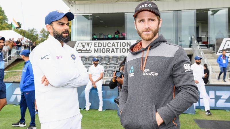 India captain Virat Kohli and New Zealand skipper Kane Williamson