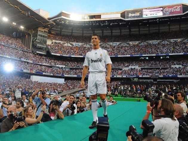 Ronaldo during his unveiling at the Santiago Bernabeu