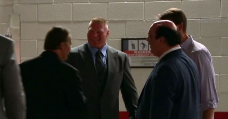 Brock Lesnar backstage in a clip from the WWE 24 series.