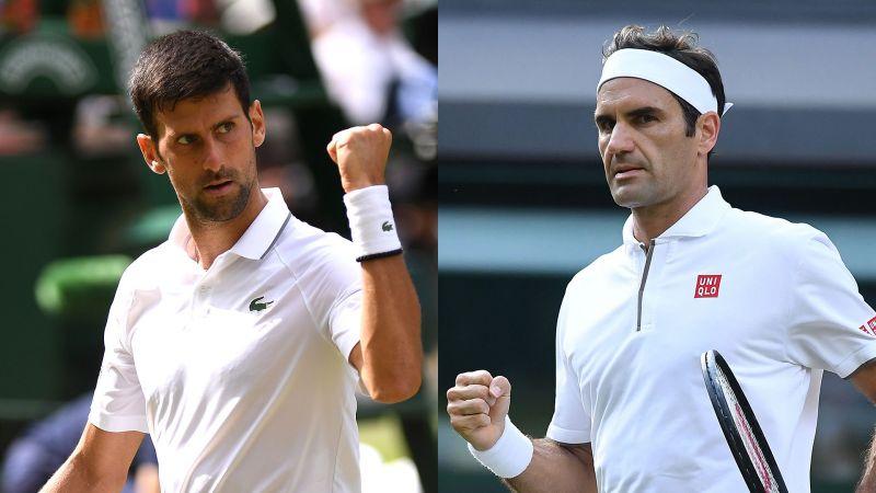 Djokovic and Federer