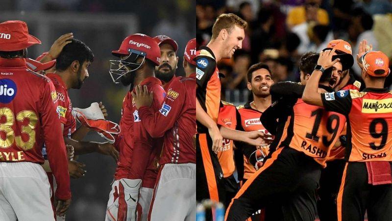 किंग्स XI पंजाबऔर सनराइज़र्स हैदराबाद
