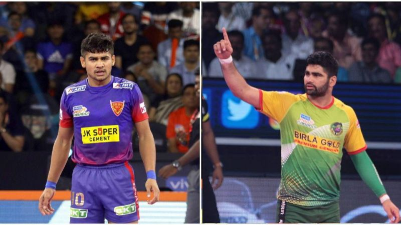 Naveen Kumar (left) and Pardeep Narwal (right)