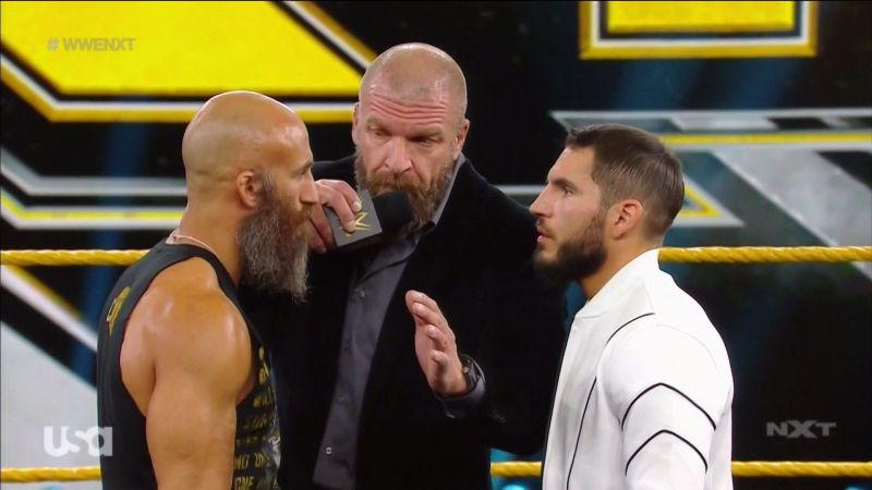 Triple H trying to calm down the former #DIY