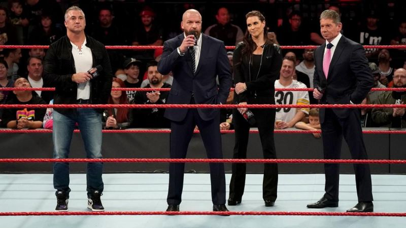Triple H and the McMahons addressed the WWE Universe in December 2018