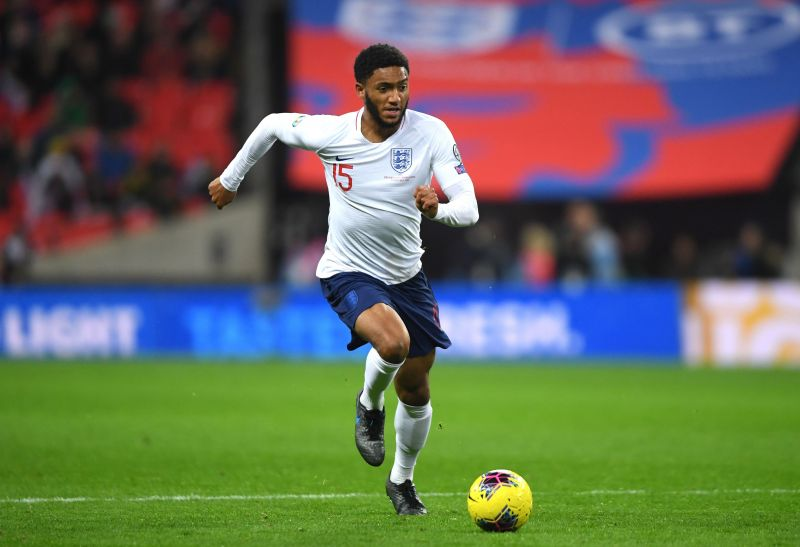 Joe Gomez in action for England