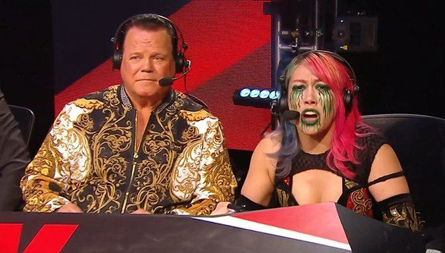 Asuka with Jerry Lawler