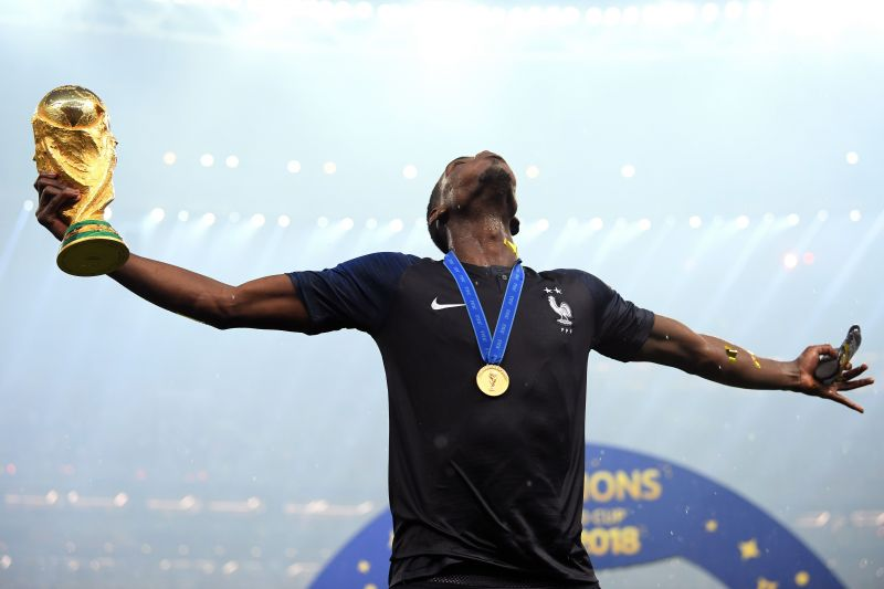 Pogba after the 2018 FIFA World Cup Russia Final