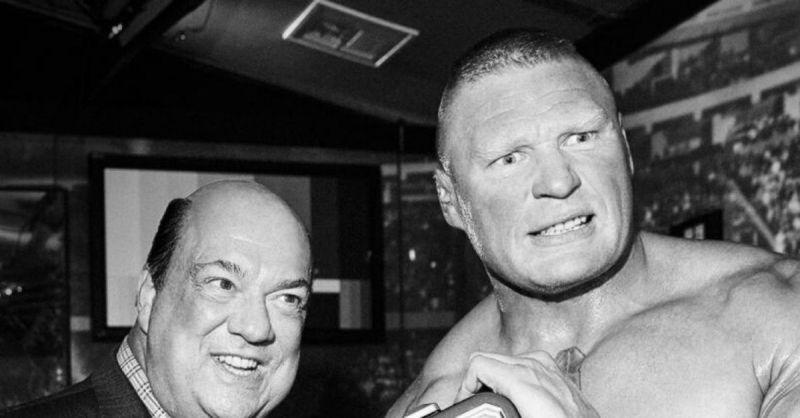 Paul Heyman and Brock Lesnar.