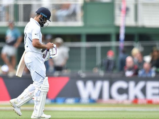 Kohli was caught unawares by the moving ball and failed to get going in the Test series.