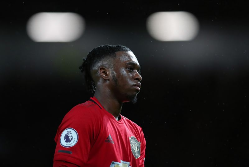 Wan-Bissaka looks on with the eye of a tiger