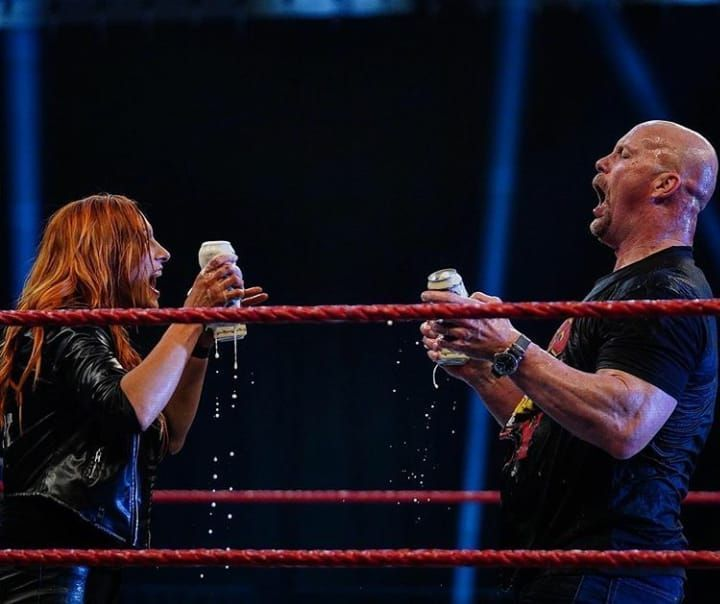 The Man and Stone Cold shared cold beverages this week