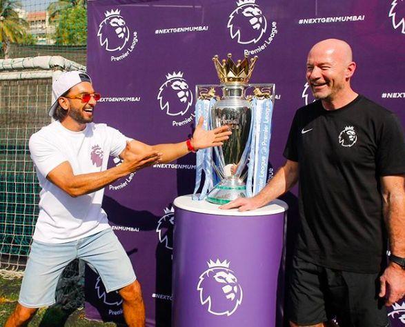 Premier League Ambassador for India – Ranveer Singh and Premier League Legend and Ambassador – Alan Shearer during the video activation