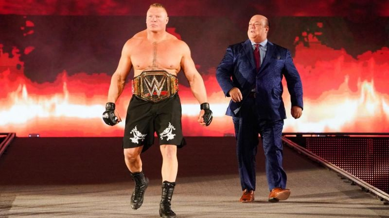 Brock Lesnar as the WWE Champion