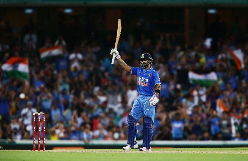 Virat Kohli after scoring a half-century against Australia