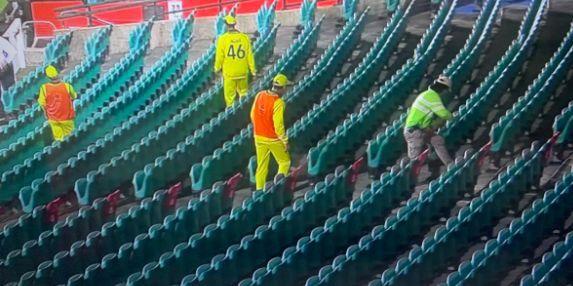 ऑस्ट्रेलिया-न्यूजीलैंड, पहले वनडे में गेंद ढूंढते हुए कंगारू खिलाड़ी
