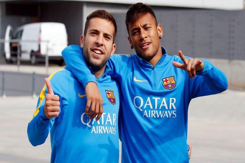 Jordi Alba and Neymar