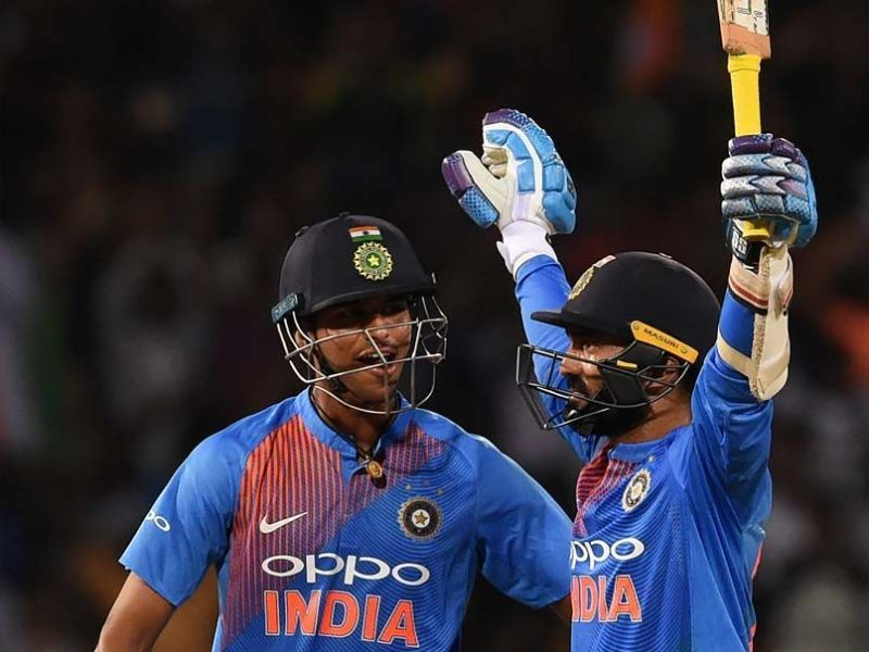 Dinesh Karthik (R) played a memorable knock in the final of the Nidahas Trophy