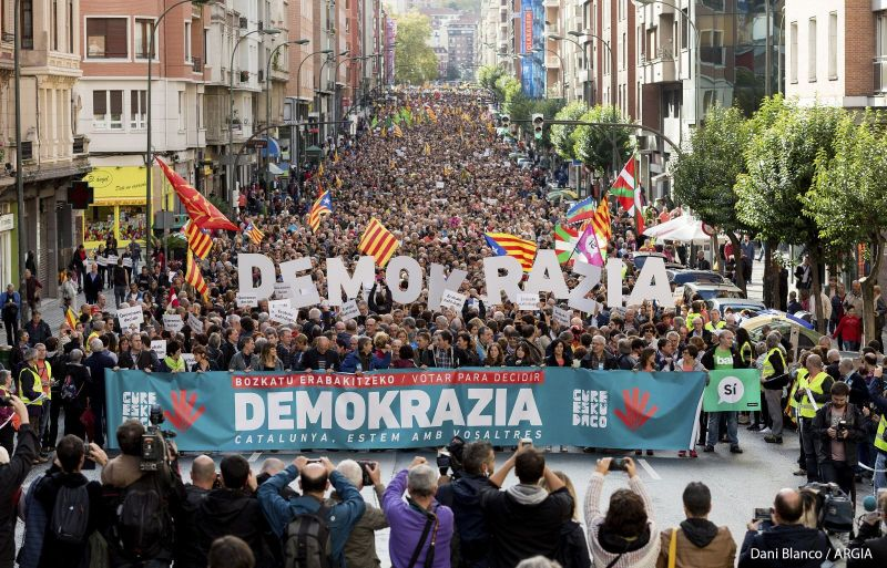 The Catalan protests in 2019 demanded peaceful dialogue from Spain (Image: Dani Blanco)