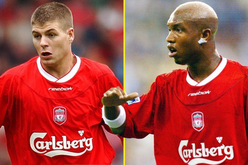 Steven Gerrard and El Hadji Diouf