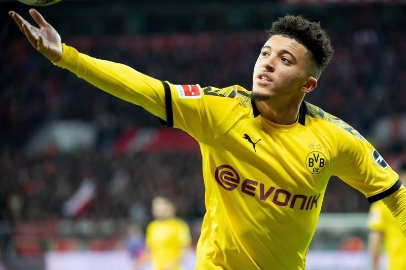 Jadon Sancho is at the top of Manchester United