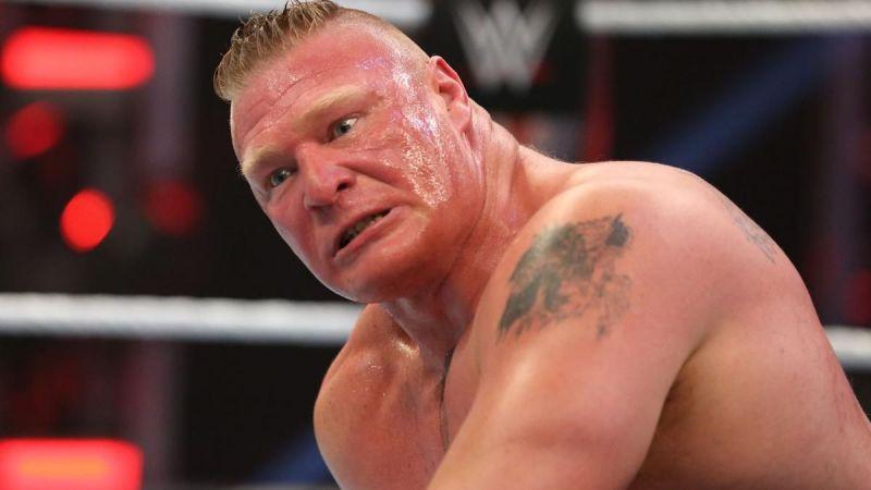 ब्रॉक लैसनर अपने मैच में हार गए थे।