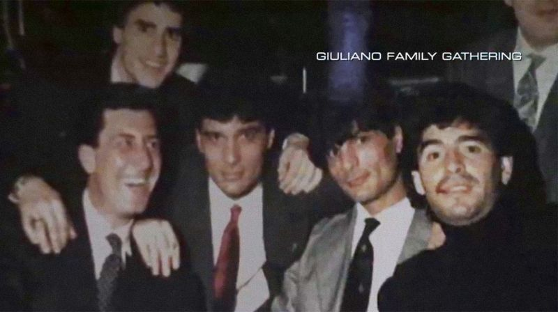 Maradona with the Guiliano clan of the Camorra, one of Italy