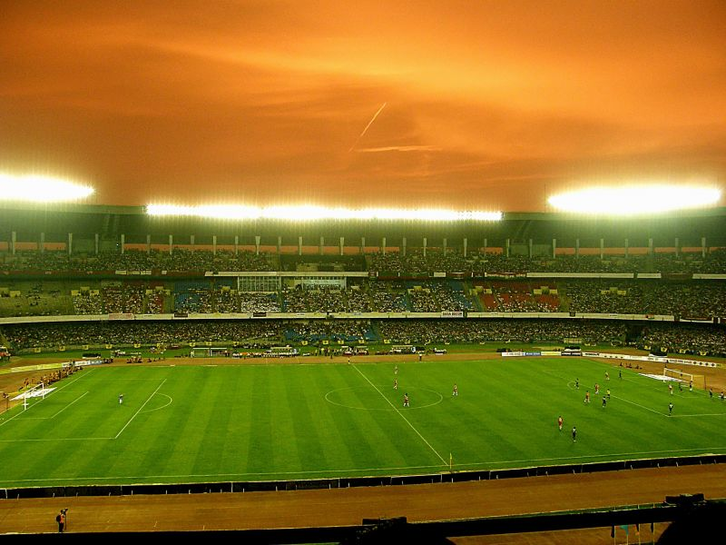 The Salt Lake Stadium is one of India